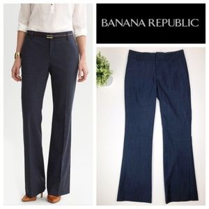 Banana Republic Martin Fit Blue Trouser Pants